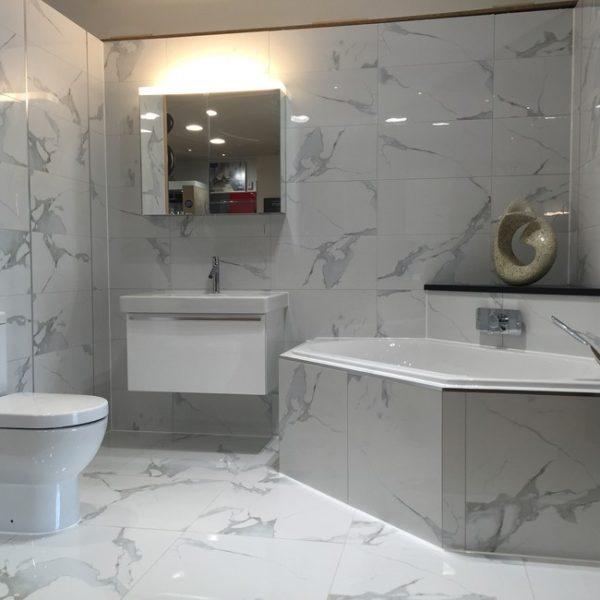 600x300 Royal Marble Bianco Polished Wall Branded Tiles
