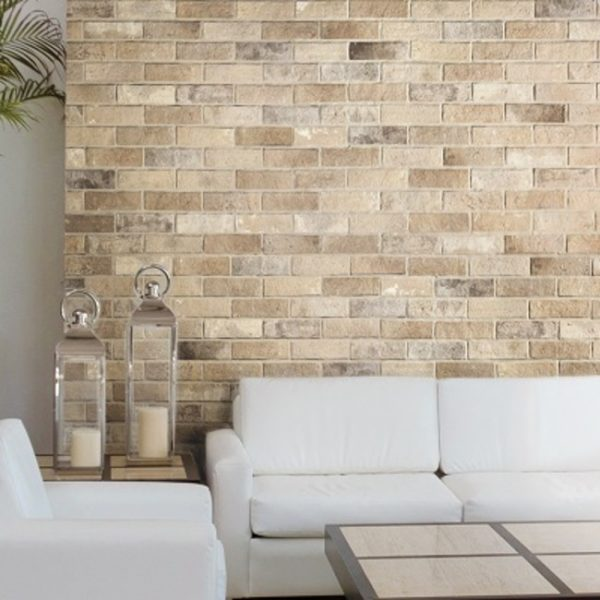 250x060 Bristol Cream Brick Branded Tiles