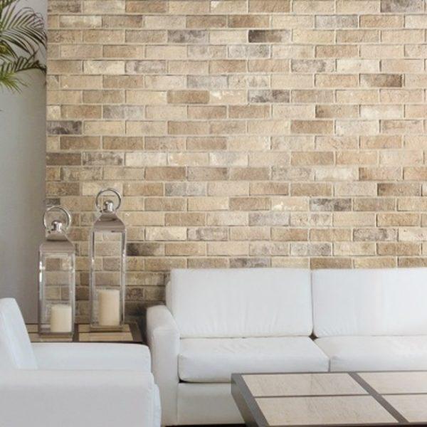 White Square Tiles Kitchen