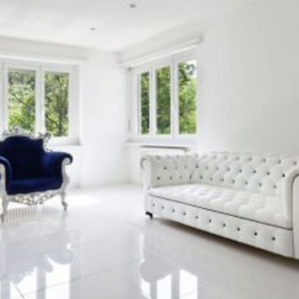 600x600 Extra White Gloss Floor Branded Tiles