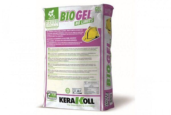 25kg Kerakoll Biogel No Limits White Adhesive Branded Tiles