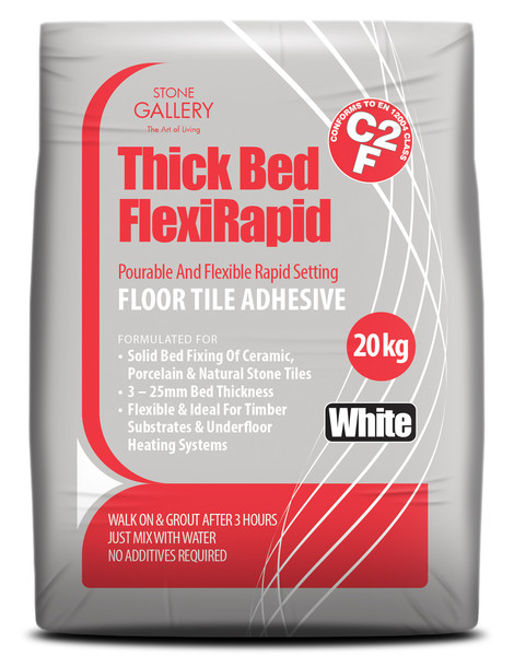 20kg Tilemaster White Thick Bed Slowset Tile Adhesive